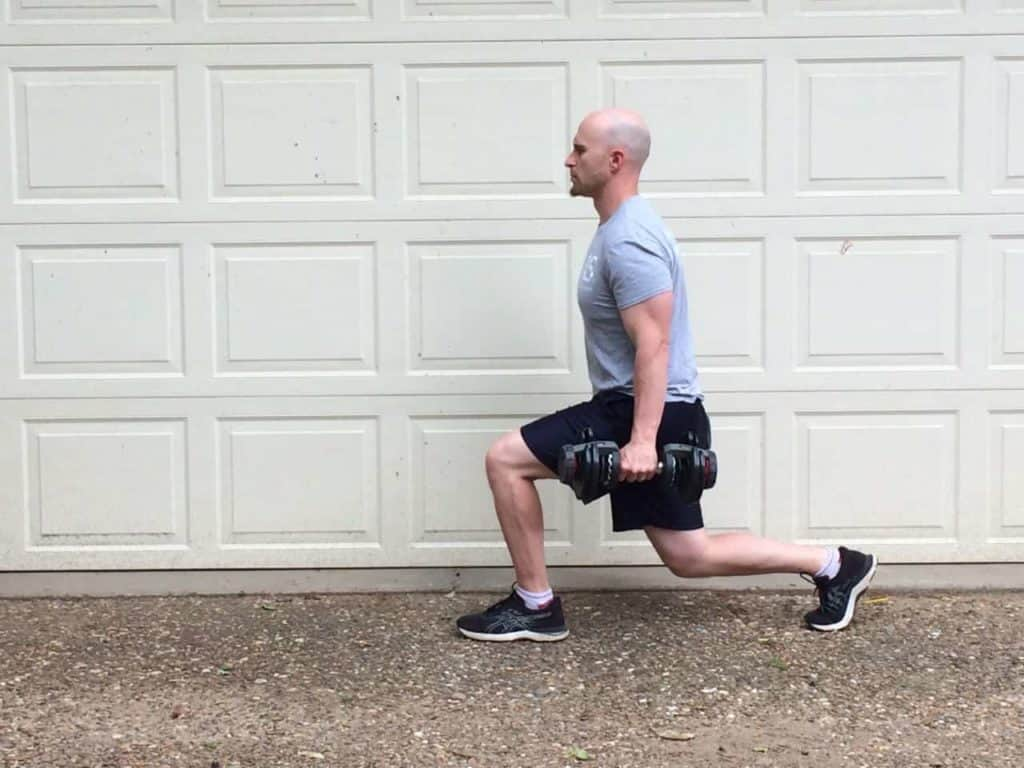 Lunge Curl 4
