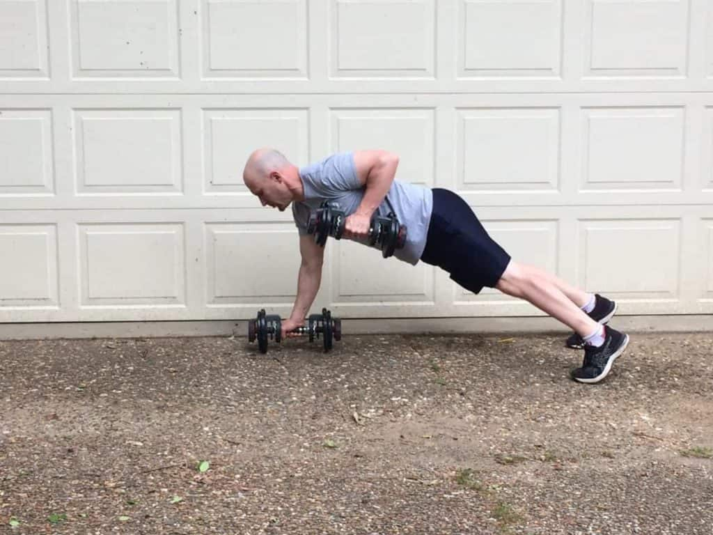 Plank to Row 2