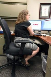 Employee sitting at desk