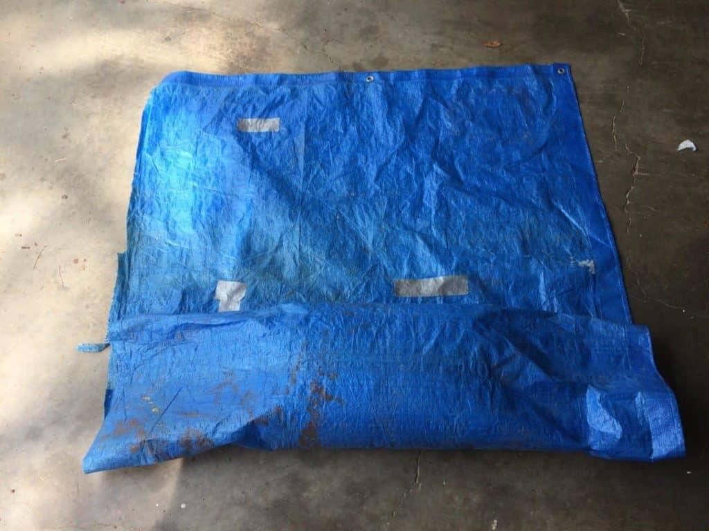 homemade sandbag tarp